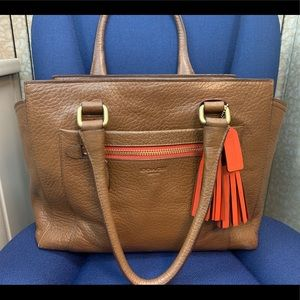Coach Candace Pebbled Leather Satchel